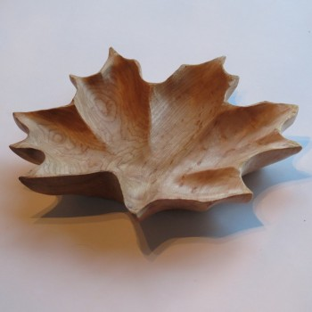 Maple Leaf Bowl ( Birds Eye Maple)