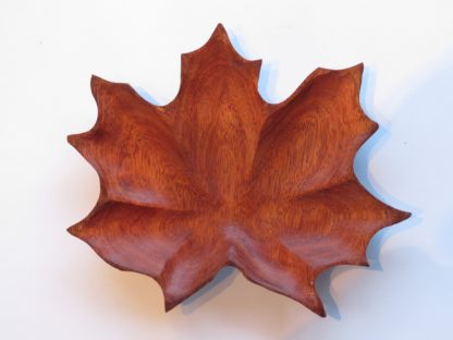 Maple Leaf Bowl ( Satine Wood) - Top