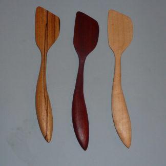 Wooden Lefty Flat Spatulas
