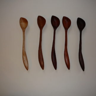 Left Handed, Hand Carved Wooden Spoons for Sale