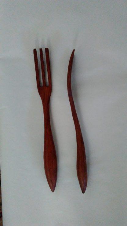 Hand Carved Wooden Pasta Fork for Sale