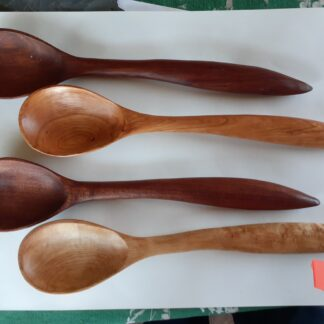 Hand Crafted Wooden Right Handed Round Spoon